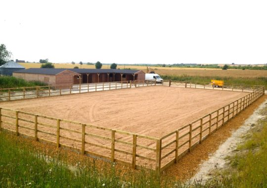 40m x 20m horse arena with cushion track in norfolk