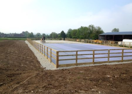 60 x 20m Outdoor Horse Arena – Essex