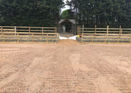 60m × 20m Outdoor Horse Arena – Croston