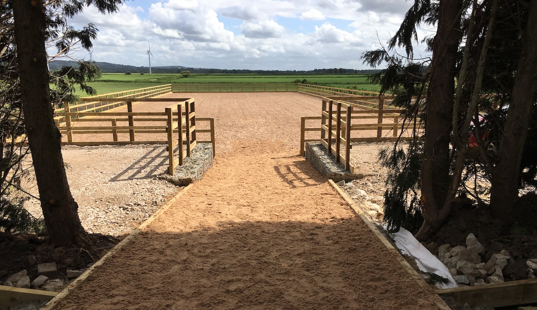 outdoor horse arena entrance
