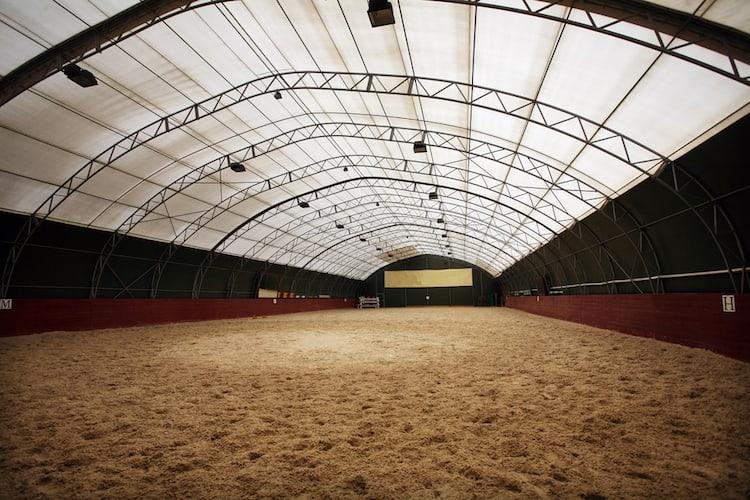large indoor horse arena