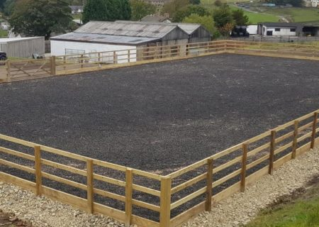40m x 20m Outdoor Horse Arena – Bacup