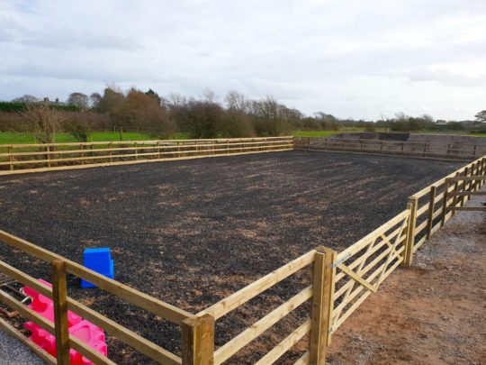 completed outdoor horse arena