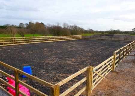 33m x 18m Outdoor Horse Arena – Pilling, Lancashire