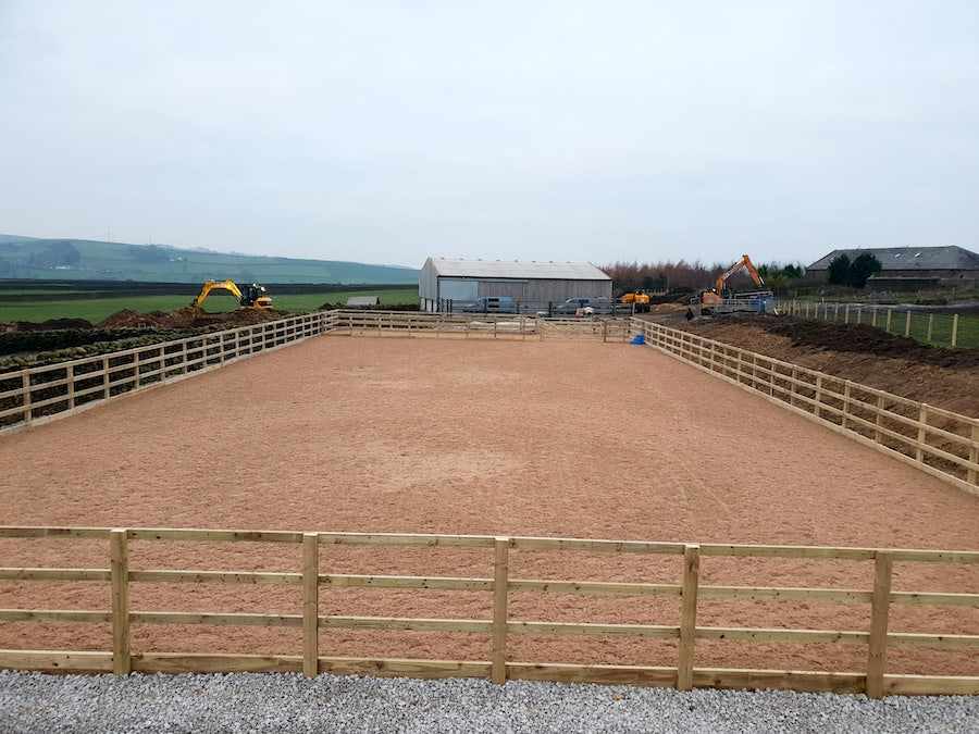 surface laid horse arena outdoor