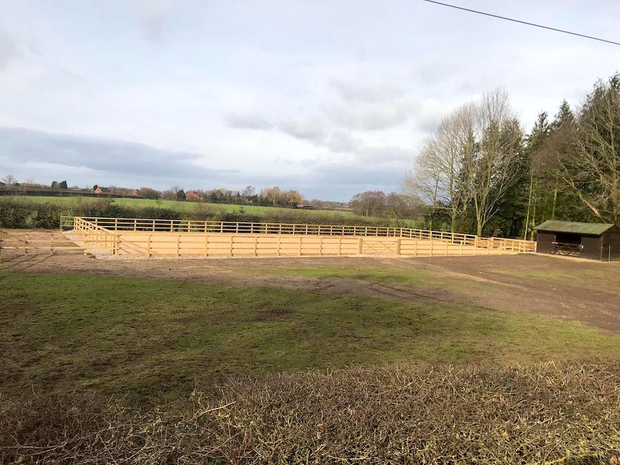 outdoor arena complete