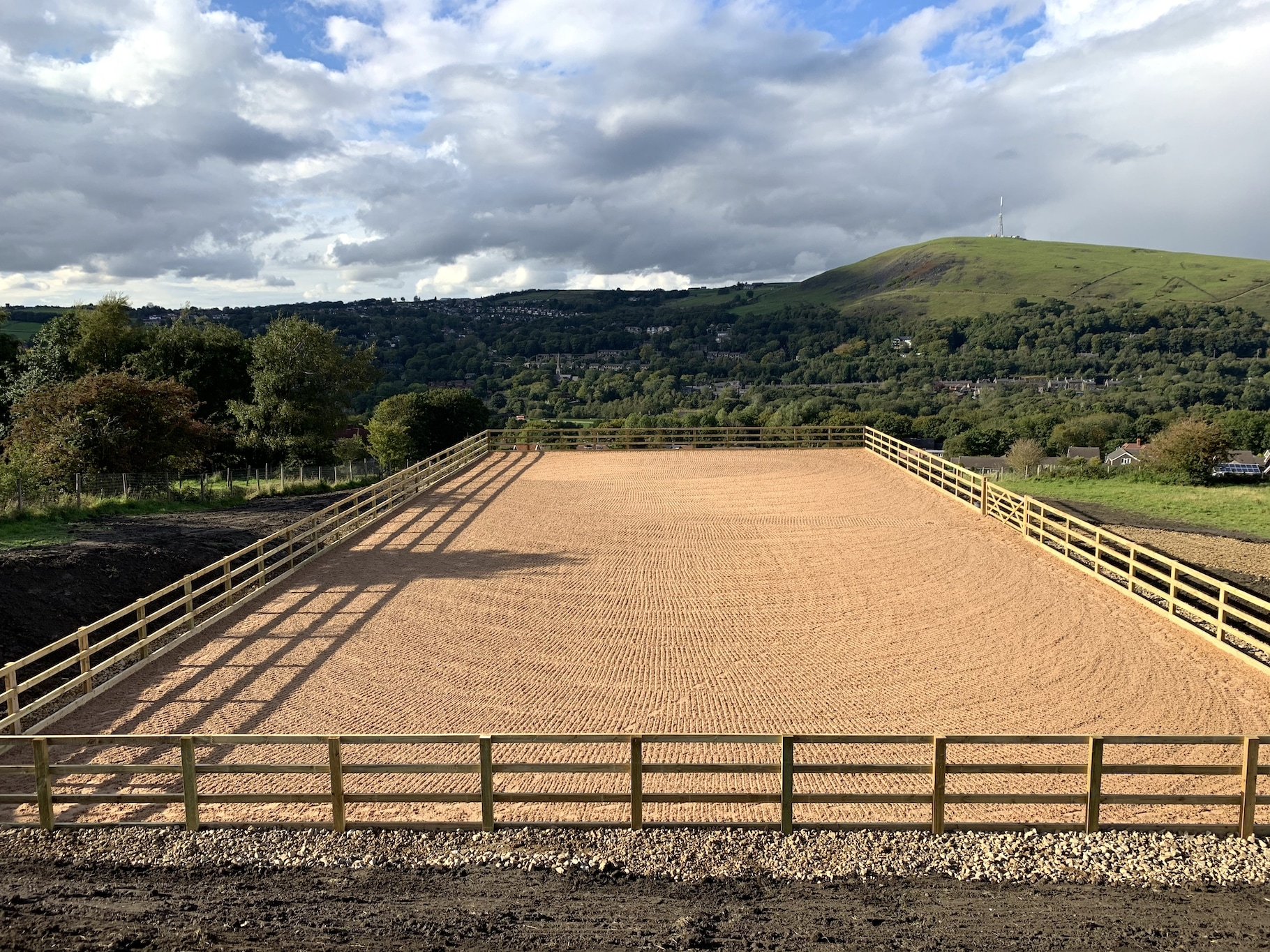 outdoor horse arena